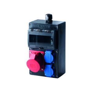 Domino wandkast 1x CEE 32A 5p 2x schuko